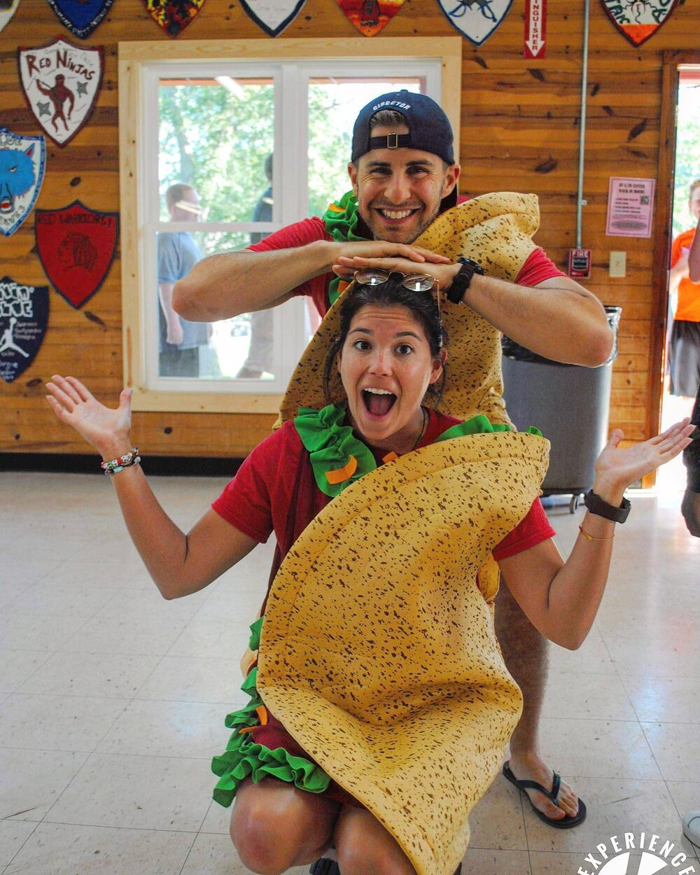 Ilana and her codirector in taco costumes