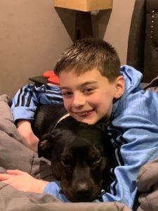Jackson with his dog